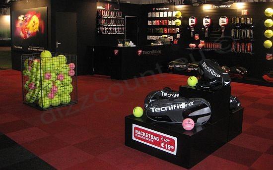 Slatwall Beurs beursstelling Tennis